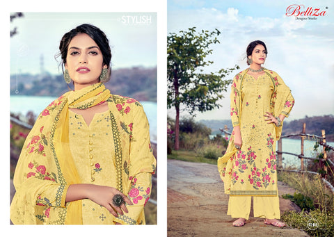 Belliza Designer Studio Nazrana Pure Cotton Digital Printed Stylish Suits