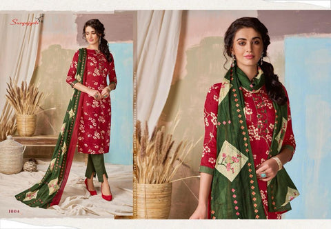 Suryajyoti Nitya Vol 1 Cotton Printed Casual Collection Suits