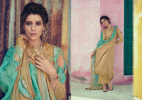 Varsha Nitara Tussar Silk Designer Salwar Suit Collection