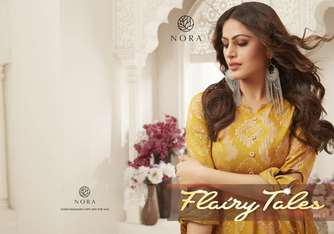 Nora Flairy Tales Vol 1 14kg Rayon Stylish Designer Gown Collection