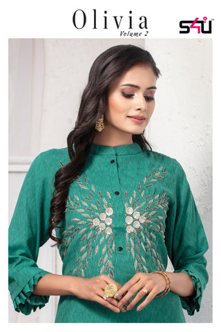 S4U Shivali Olivia Vol 2 Fancy Casual Wear Kurti Collection