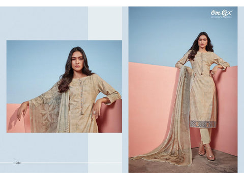 OMTEX AMBER LAWN COTTON DIGITAL PRINT SUIT WITH WORK