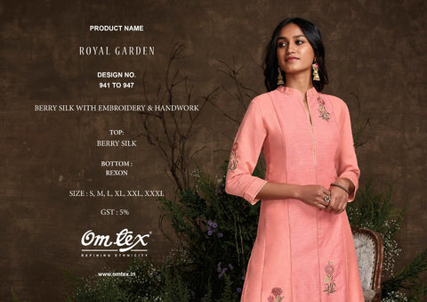Om Tex Royal Garden Silk Designer Wear Salwar Kameez