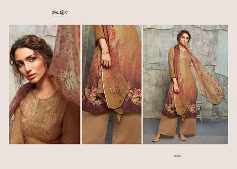 Om Tex Chloe Embroidered Silk Digital Printed Salwar Suit In Wholesale