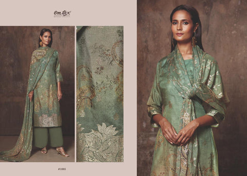 Omtex Ella Banarasi Jacquard Handwork Ethnic Suit Collection