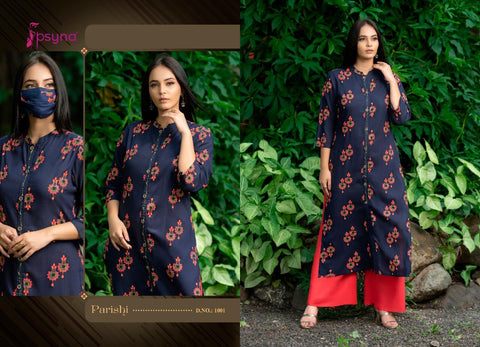 Psyna Parishi Premium Rayon Printed Stylish Kurti Collection