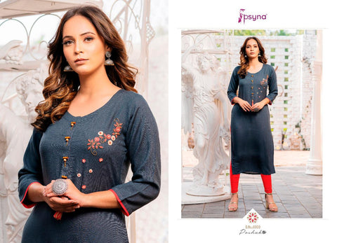 PSYNA BRINGS POSHAK VOL.6 BEAUTIFUL KURTI WITH HANDWORK COLLECTION
