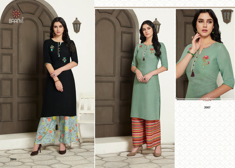 R Studio Presents Jannat Rayon Slub Stylish Designer Kurtis Collection And Plazzo