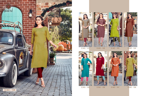 R Studio Magic Fabric Rayon Fancy Designer Kurti Collection