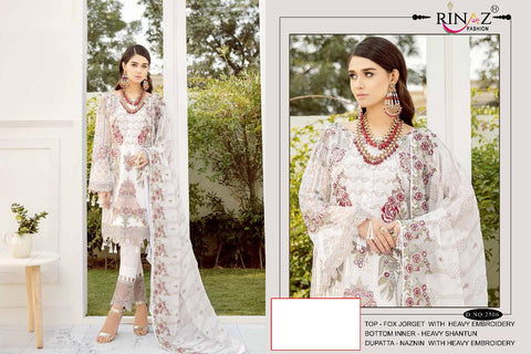 RINAZ FASHION RANGOON DESIGNER PAKISTANI COLLECTION WITH HEAVY EMBROIDERY