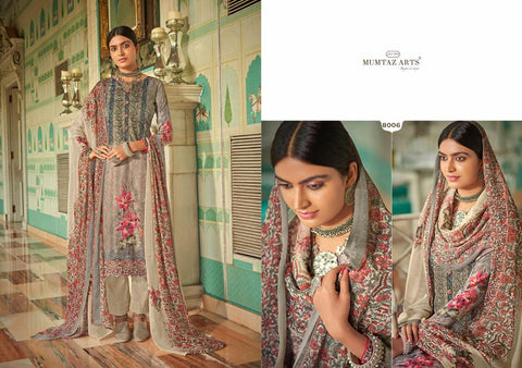 Mumtaz Arts Resham Aari Jam Cotton Digital Printed Salwar Kameez