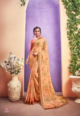 SHANGRILA PRINTS PRESENTS RIDHIMA VOL3 PRINTED GEORGETTE SAREE COLLECTION