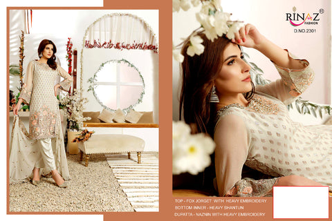 Rinaz Fashion Signature Georgette Embroidery Pakistani Work Suits