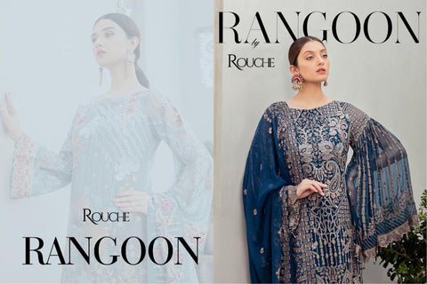 Rouch Presents Rangoon Heavy Fox Georgette Pakistani Salwar Suits
