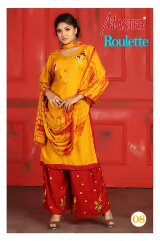 MASTER PRESENTS ROULETTE DAILYWEAR RAYON DRESS MATERIAL COLLECTION