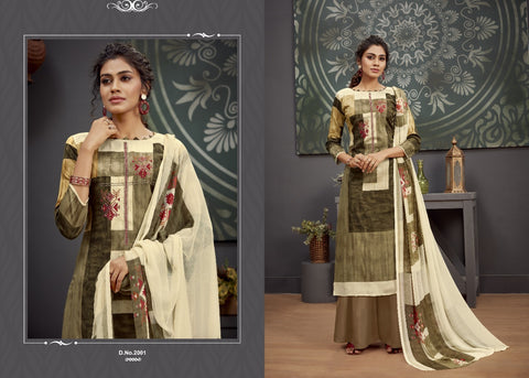 Radhika Fashion Chetna Zam Cotton Print Embroidery Work Suit