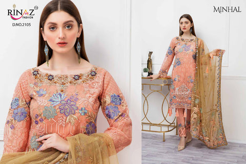 Rinaz Fashion Minhal Premium Collection Embroiderd Pakistani Suits In Wholesale
