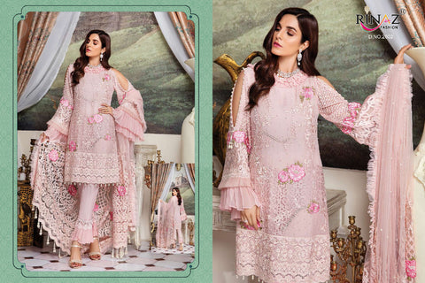 Rinaaz Fashion Shenyl Faux Georgette Heavy Embroidery Pakistani Work Suit