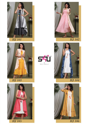 S4U Shivali Presents Hello Jackets Vol 5 Fancy Designer Kurtis Collection With Jackets