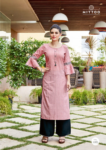 MITTOO SAAWARIYA VOL 2 RAYON FABRIC WITH EMBROIDERY WORK KURTI