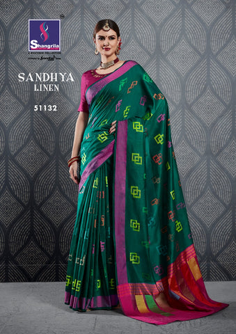 SHANGRILA PRINTS LAUNCHES SANDHYA LINEN COLOURFUL RANGE SAREES