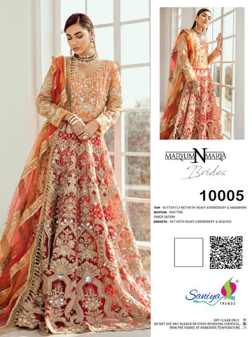 SANIYA TRENDZ MARYUM N MARIA PAKISTANI FANCY GOWN PATTERN SUIT