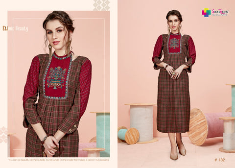SANSKRUTI SILK MILLS PRESNTS AAFIYA COTTON KURTI COLLECTION