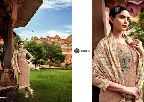 Sadhana Fashion Presents Burberry Vol 33 Pashmina Heavy Work Fancy Designer Salwar Suits