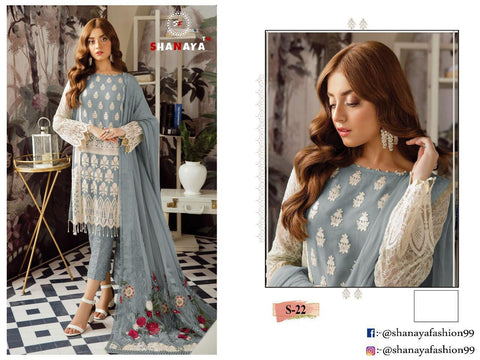 Shanaya Fashion S 22 Faux Georgette Pakistani Designer Singles Collection