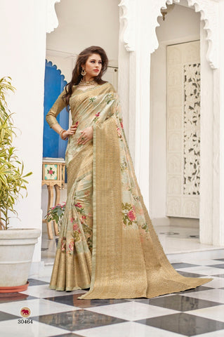 SHANGRILA DESIGNER SHIMONA DIGITAL WEAVING SILK SAREE WITH RICH PALLU