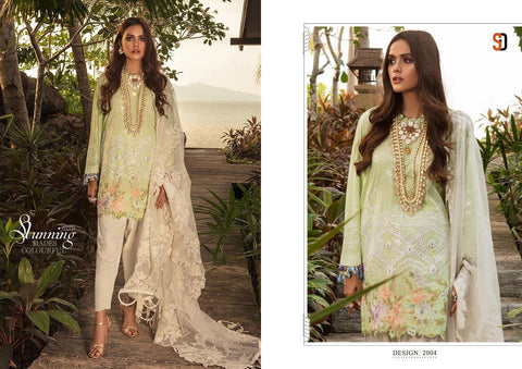 Sharaddha Designer Sana Safina Lawan Cotton Casual Wear Salwar Suit