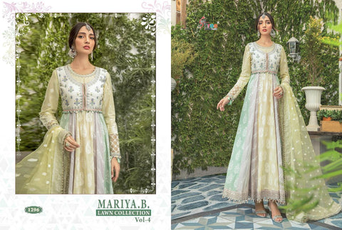 Shree Fabs Mariya B Lawn Collection Vol 4 Cotton Embroidery Pakistani Work Suit