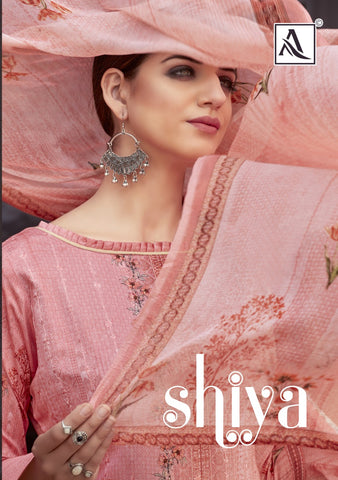 ALOK SUIT SHIYA PURE ZAM DIGITAL PRINTS WITH EMBROIDERY SALWAR SUIT