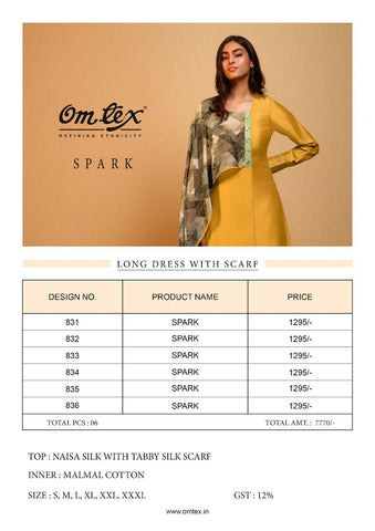 Omtex Spark Silk Spark Fancy Stylish Wear Kurti Collection