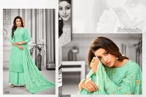 Samaira Fashion Presents Filhall Maslin Silk Heavy Embroidered Suits