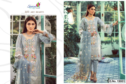 Saniya Trendz Lelaf Desginer Party Wear Salwar Suits Collection
