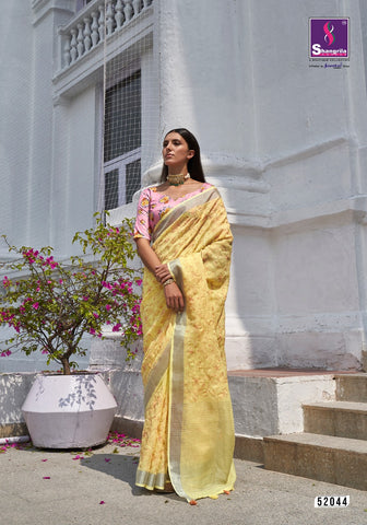 Shangrila Shantam Pure Weaving Linen Digital Print Saree