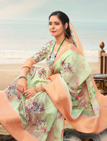 Shangila Creation Spring Digital Vol 2 Floral Print Designer Sarees Collection
