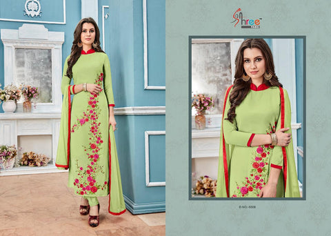 Shree Fabs Presents Lotus Long Georgette Pakistani Suit Collection
