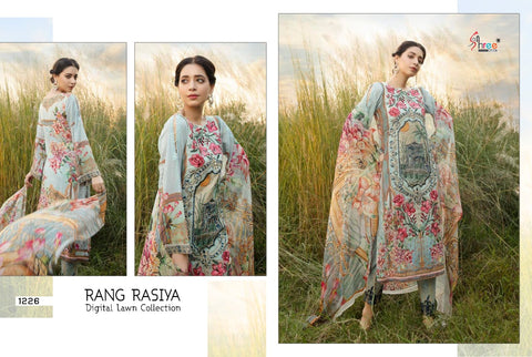 Shree Fabs Rangrasiya Digital Lawn Colletion Pakistani Salwar Suits