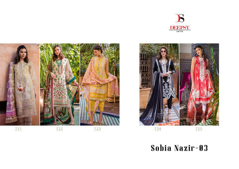 Sobia Nazir Vol 3 By Deepsy Pure Cotton With Heavy Embroidery Salwar Suit