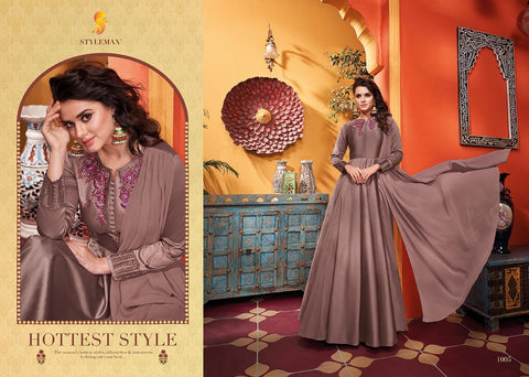 STYLEMAX ALMIRAH VOL 3 SOFT SILK READYMADE LONG GOWN STYLE KURTI