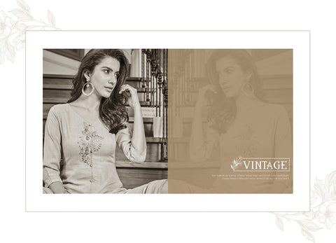 Stylemax Vintage Vol 1 Slub Cotton Kurti With Plazzo Party Wear Collection