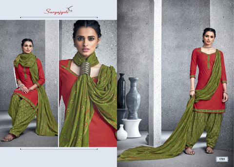 Suryajyoti Patiyala Kudi Vol 17 Cotton Collection Casual Wear Suits