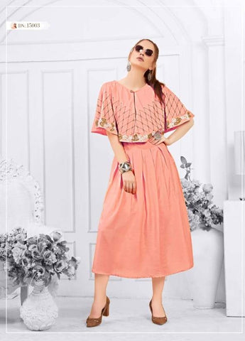 Tips And Tops Presents Shades Heavy Muslin Stylish Designer Kurtis Collection