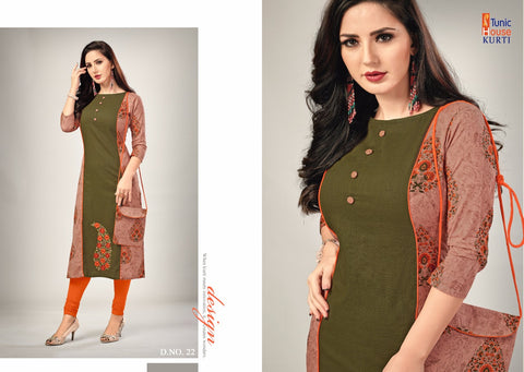 TUNIC HOUSE BRINGS ELEGANCE COTTON KURTI COLLECTION WITH PURSE