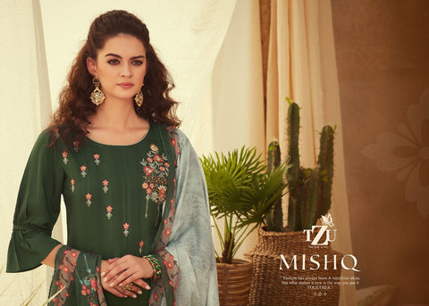 TZU Mishq Cotton Fancy Designer Stylish Kurti Collection