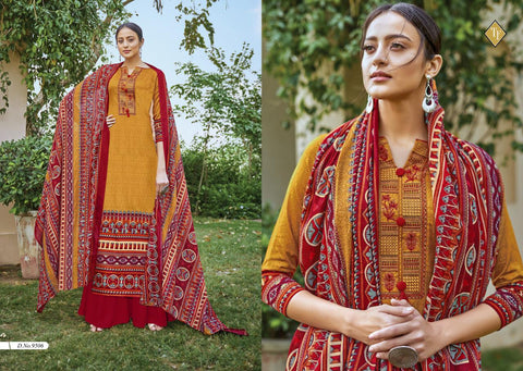TANISHK FASHION KASHMIRI VOL 5 PURE JAM KASHMIRI EMBROIDERED SUITS
