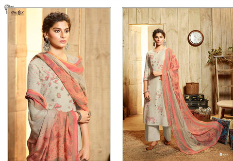 Omtex Presents Tehseen Printed Cotton Casual Wear Salwar Suits