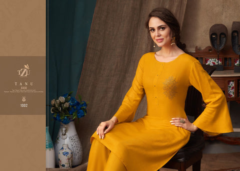 Tzu Presents Tanu Attractive Rayon Casual Kurti Collection